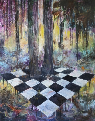 Game oil on canvas 108x133cm